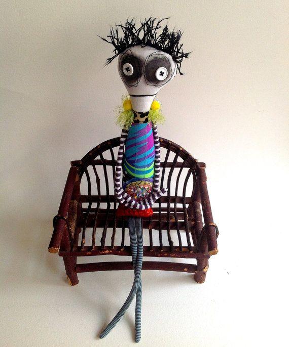 Anxiety relief mental health ooak art doll