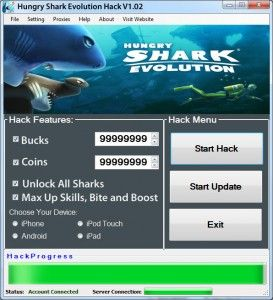 Hungry Shark Evolution Hack & Cheats Unlimited Coins Gems