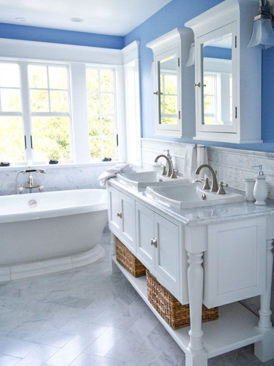 The Best White Bathrooms Cottage Style Bathrooms White