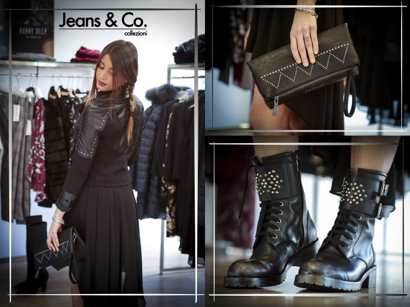 #JeansandCocollezioni Il Natale si avvicina, ma sei ancora in tempo per cercare qualche stilosa idea per i tuoi regali! ;) Ti aspettiamo in negozio! #Outfit: Total black Gio Cellini