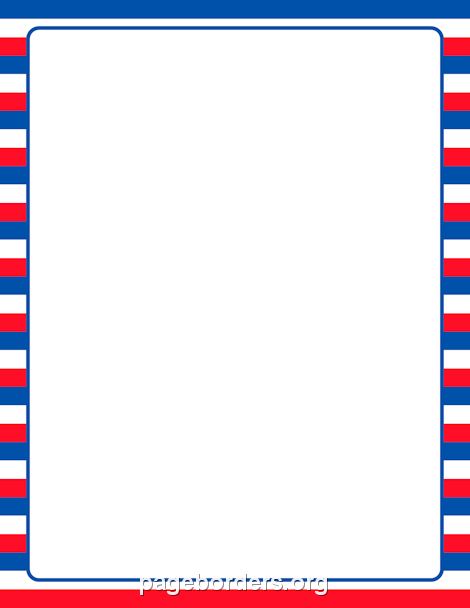 Printable patriotic striped border Use the border in Microsoft – Free Page Border Templates for Microsoft Word
