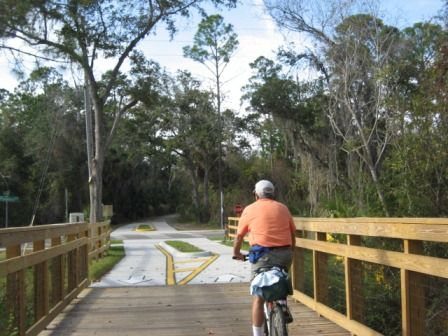 Florida Biking Volusia County East Central Rail Trail Spring To