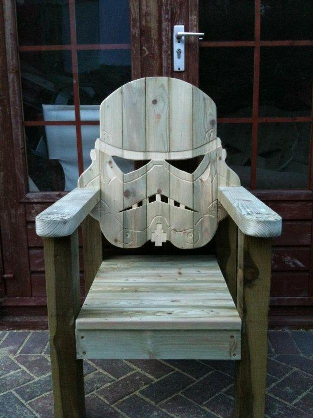 """Cadeira chefe de família """"Star Wars Stormtrooper Deck Chair"""""""