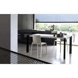 Photo of Kristalia Nori Alucompact® Tisch ausziehbar 80 x 114 / 154 / 194cm Tischplatte anthrazitgrau, Beine