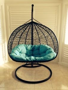 Pe Ratten Hanging Egg Chair Swing Waterproof Cush Stand Penrith 2 Seater Double Swinging Chair Hanging Egg Chair Hanging Chair