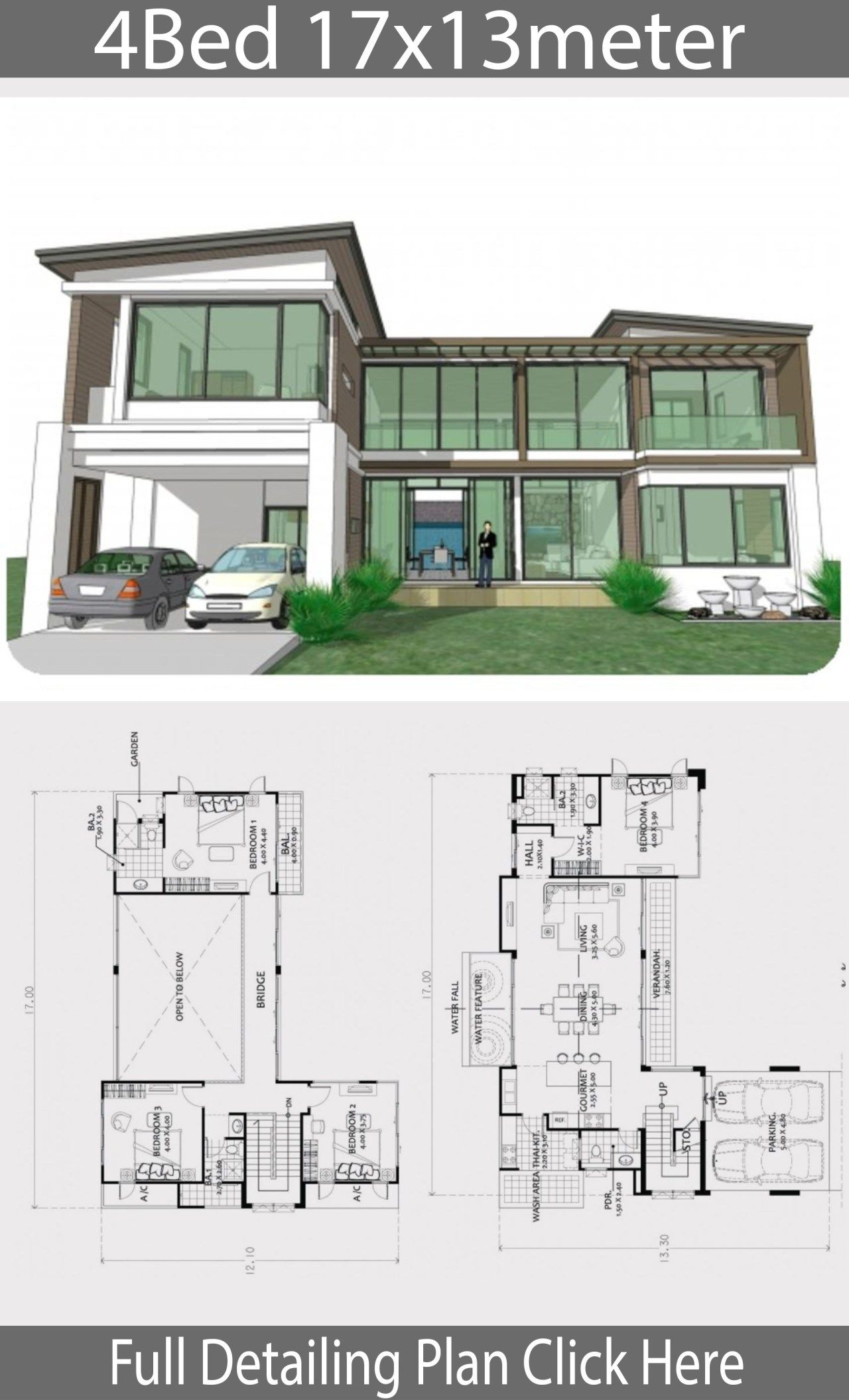 Home Design Plan 17x13m With 4 Bedrooms Home Ideas Beautiful House Plans Home Design Plan House Designs Exterior