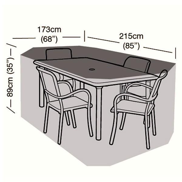 4 Seater Rectangular Patio Set Cover - 215cm/846\
