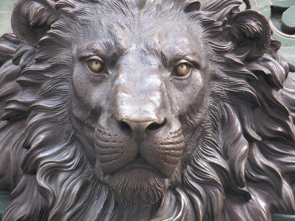 Lion head statue google search lions pinterest