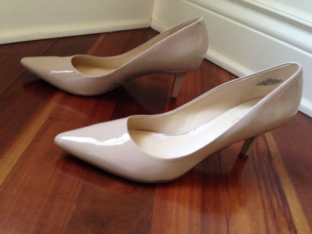 Chic Nude Single Sole Heels - Patent Vegan Leather Heels