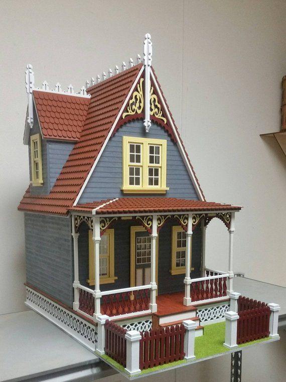 Wood Victorian Dollhouse Kit Little Annabelle Victorian Cottage 1