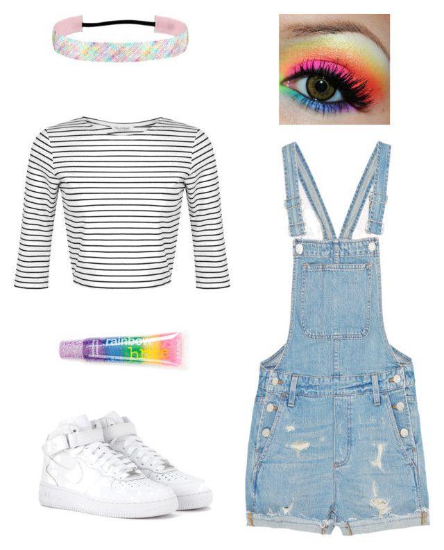 Back to the 80s by jofobbester on Polyvore featuring polyvore fashion style Miss Selfridge Madewell NIKE claire's clothing