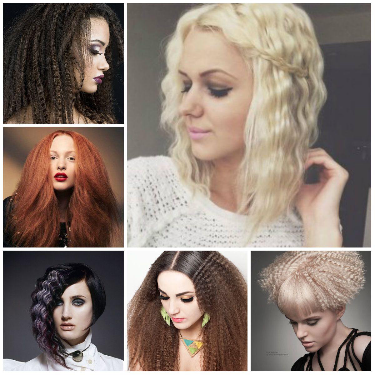 Incredible Crimped Haar Auf Kurzes Haar Frau Frisuren Stil Pinterest Hairstyle Inspiration Daily Dogsangcom