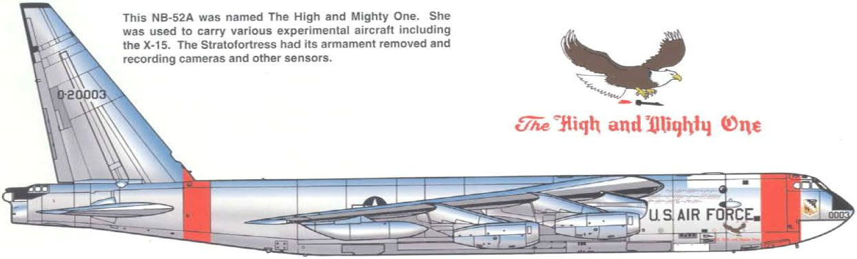 """USA Boeing B-52 Stratofortress / USAF / NB-52A-1-BO """"The High and Mighty One"""""""