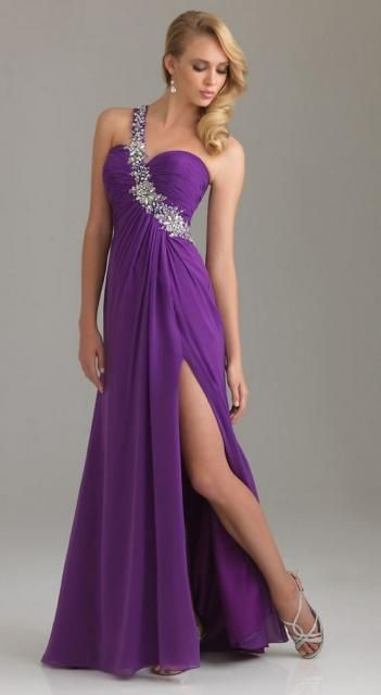 Image detail for -Blonde pretty woman in pretty purple long formal ...