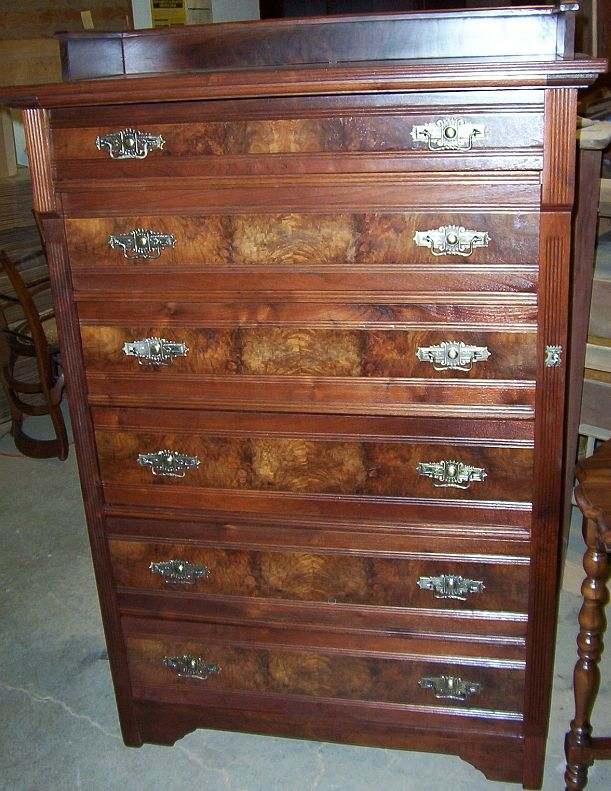 Http Www Dollfurniturecompany Antique Walnut Chest Of Drawers Refinished