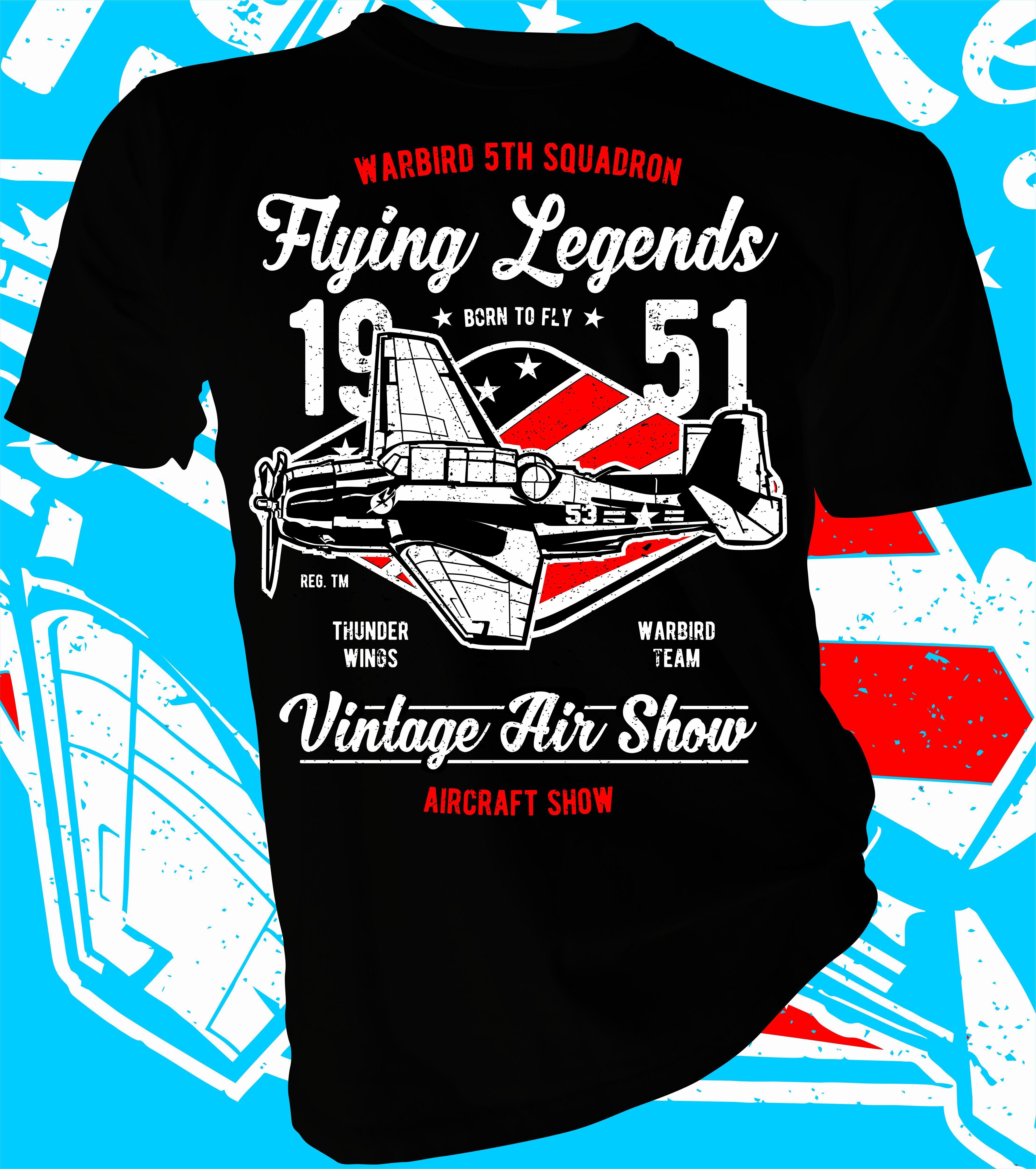 e41340b1 Flying Legends. Pilot designer t-shirt. Sizes from 3-4 Yrs to 5XL. Fruit of  the Loom. #lahfabrics #apparel #clothes #fashion #tee #tees #teeshirt # tshirt ...