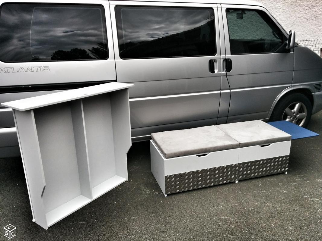 Exceptionnel Amenagement, meuble, coffre, tiroir vw multivan t4 Equipement  XI37