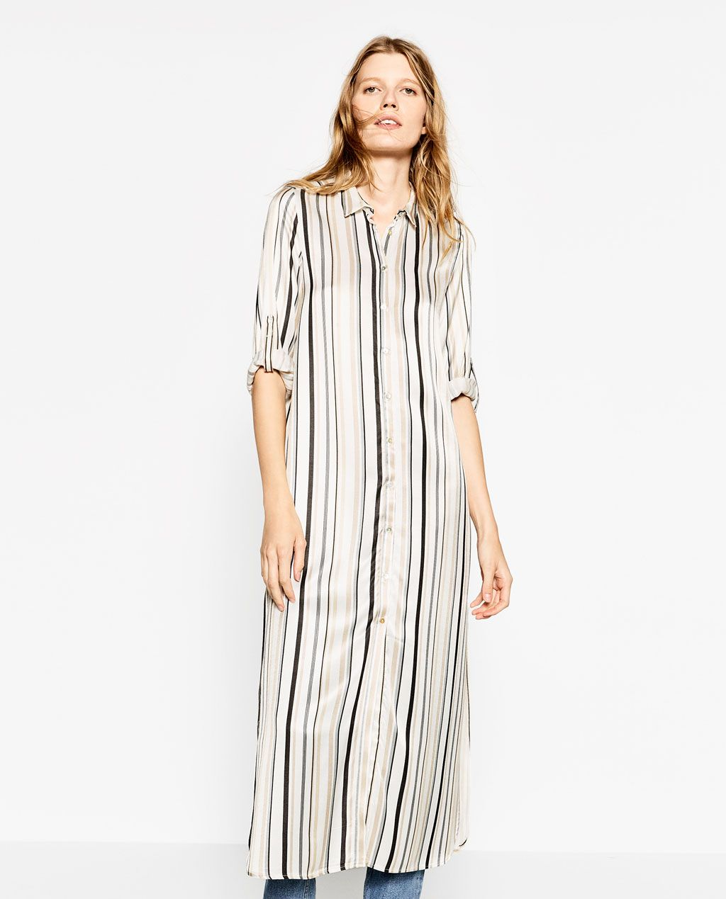 f1e75e3f STRIPED TUNIC-DRESSES-WOMAN | ZARA Israel | Things to Wear | Dresses ...