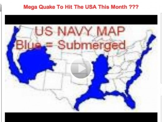 This US Navy Map shows what they expect the US to look like ...