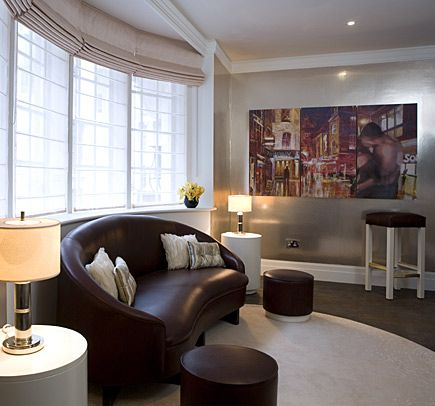Fab love seat in the two bedroom suite at the sanctum soho - London hotels with 2 bedroom suites ...