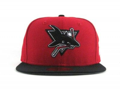 new york c1c04 64714 Worcester Sharks New Era 59FIFTY Fitted Hat (RED BLACK WHITE GRAY UNDERBRIM)