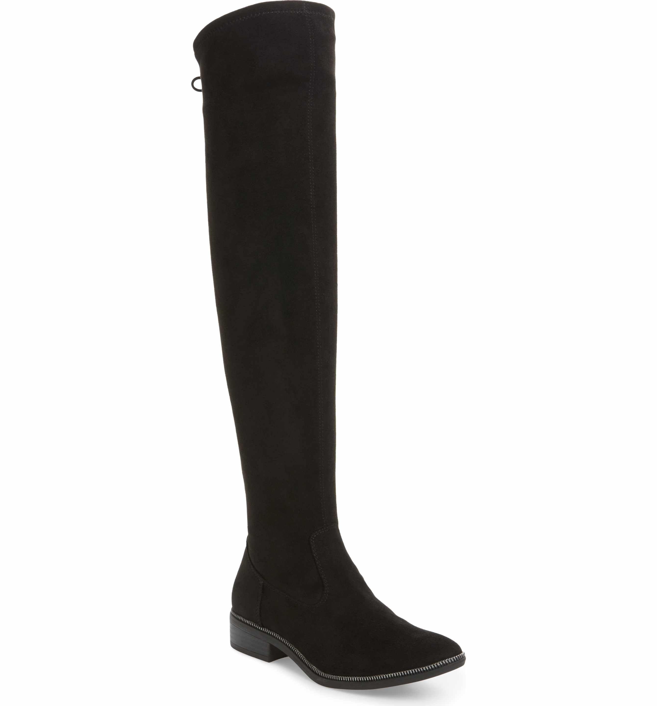 Tamaris Phanie Over the Knee Boot(Women's) -Dune Textile 2018 Cheap Sale Best Sale Sale Exclusive Best Authentic iCVFhea