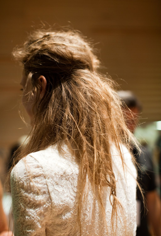 New York Fashion Week S/S 2013 Wes Gordon Hair by Bb. Stylist Laurent Philippon #fashionweek #hair #bumble #fashion