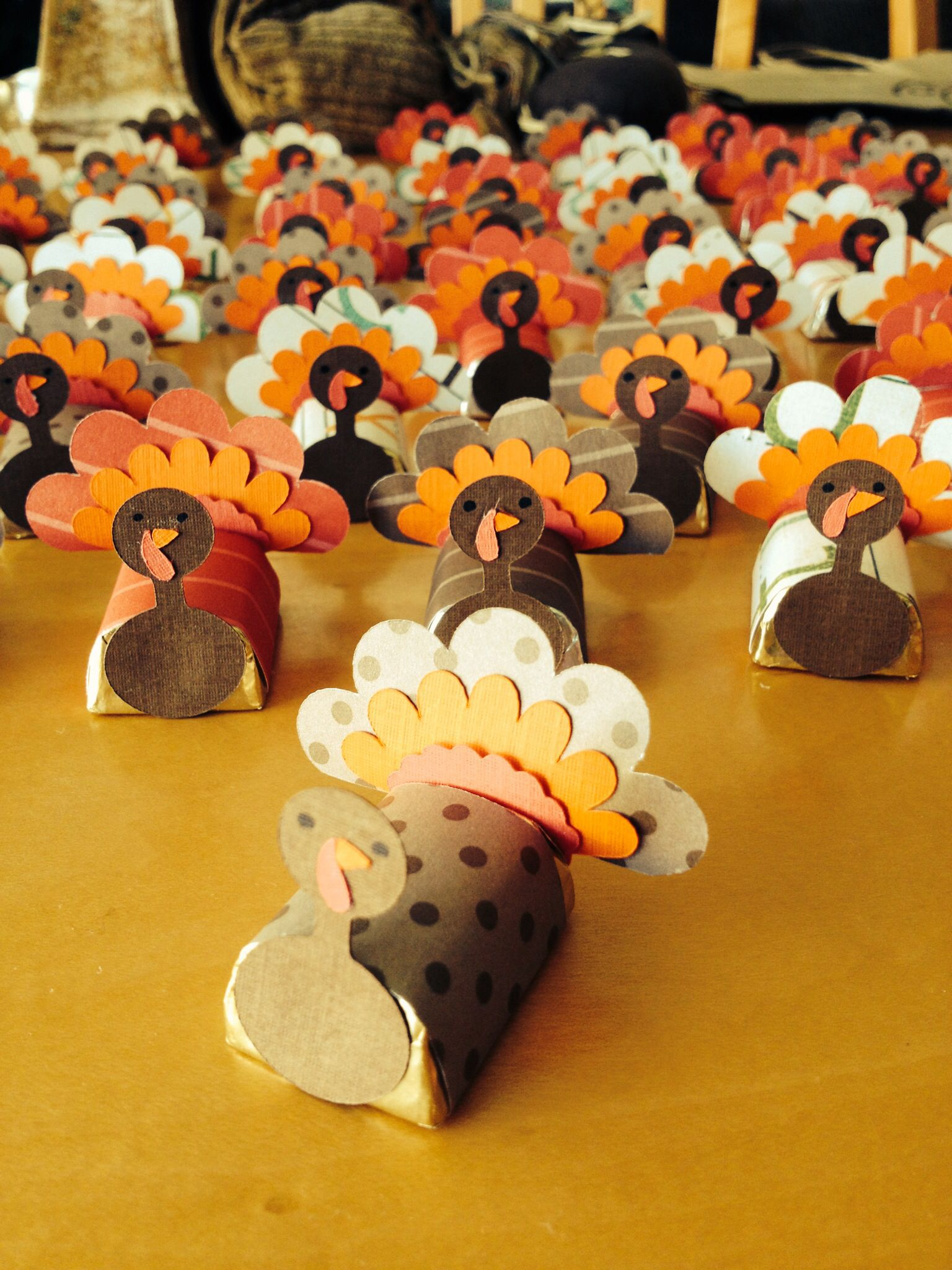 Alexa's turkey favors for class thanksgiving treats