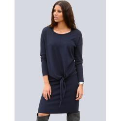 Photo of Alba Moda, knit dress consisting of tank top dress and oversized sweater, blue Alba Moda