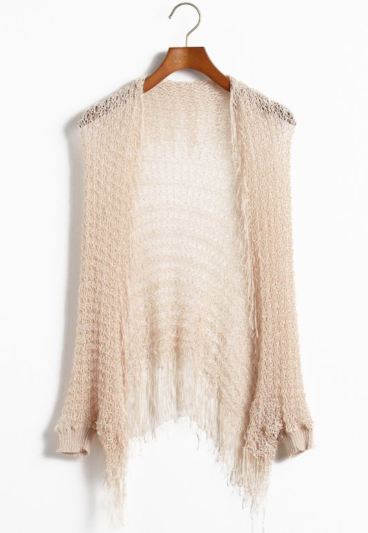 Loose Knit Cardi in palest blush