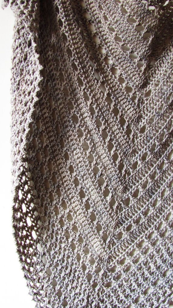 Northern Sea is a triangular shape shawl crocheted from the top down ...