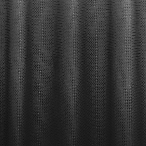 Creative Home Ideas Ombre Waffle Weave Shower Curtain With Metal Roller Rings Dark Grey