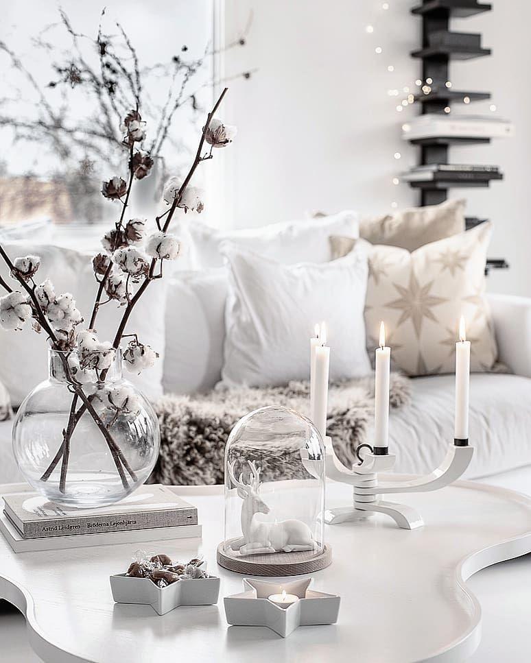 25 Scandinavian Christmas Living Room Decor Ideas Christmas Decorations Living Room Decor Coffee Table Decor Living Room