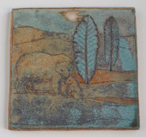 reserved for Sally Coasters with Bear set of 4