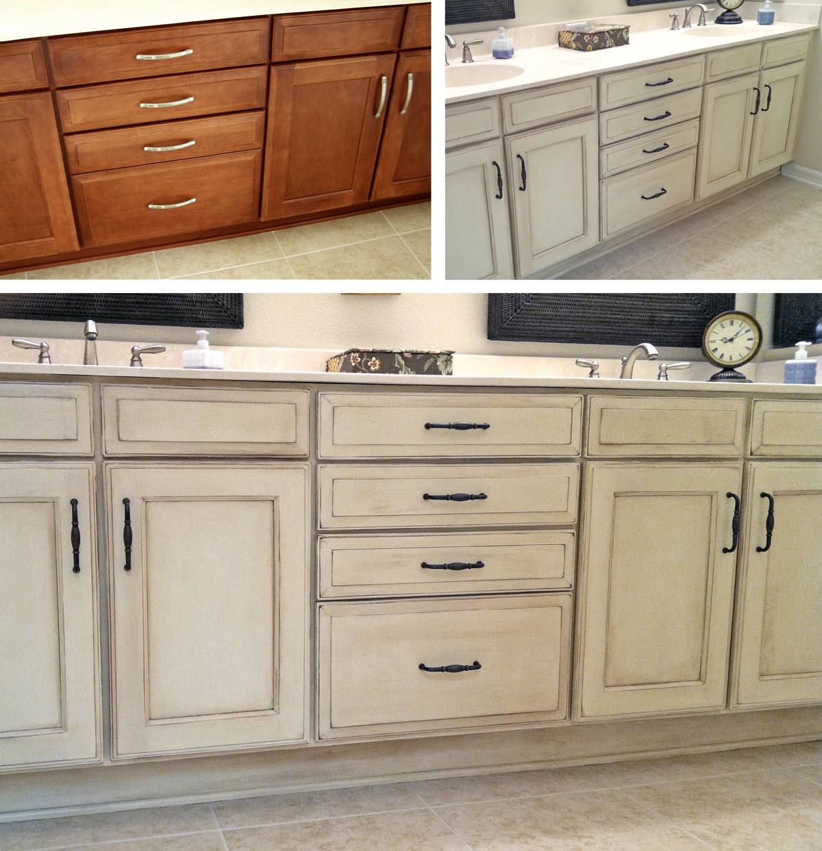 Bathroom Vanity Painted With Annie Sloan Chalk Paint   First Coat Old  Ochre, Then Old · Painted Bathroom CabinetsKitchen ...