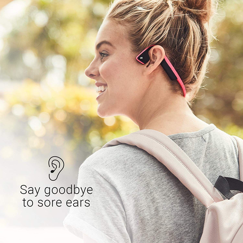2c3e3910a4d Amazon.com: AfterShokz Trekz Titanium Open-Ear Wireless Bone Conduction  Headphones with Brilliant