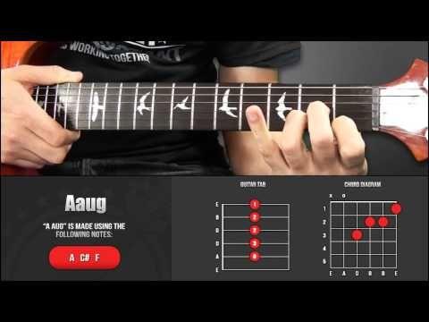 Guitar Chord Library A Chords Aaug Youtube Guitar Chords