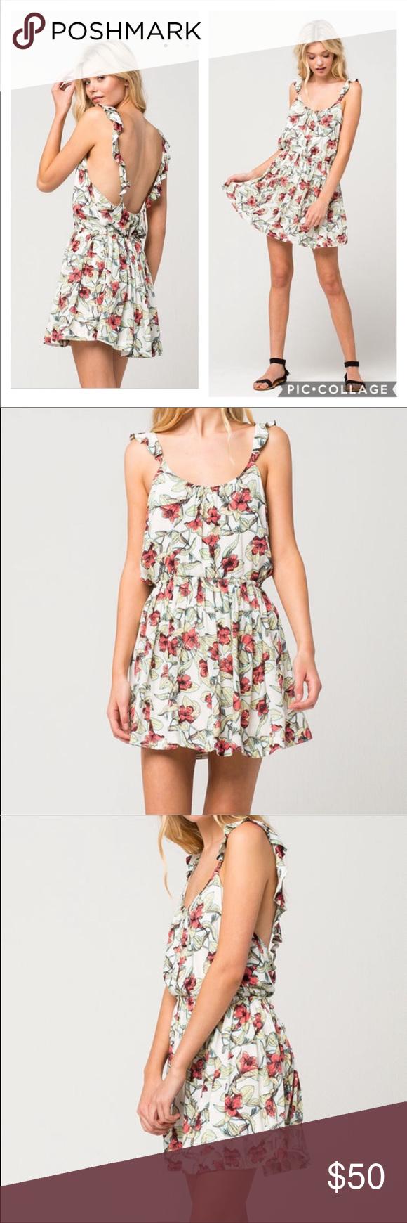 f036957152fb Free People White Floral Ruffle Mini Dress Large Free People Dear You Mini  Dress Size Large