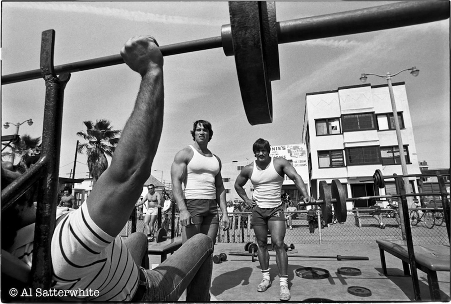 Image result for arnold schwarzenegger muscle beach old school image result for arnold schwarzenegger muscle beach malvernweather Image collections