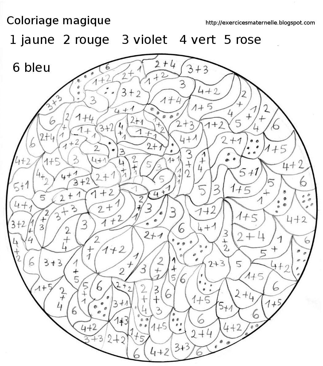 23 dessins de coloriage Magique Ce23 à imprimer  Color by numbers