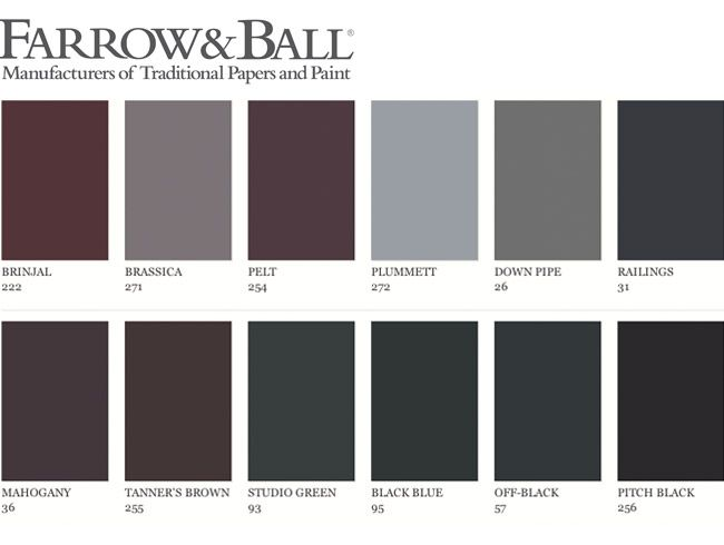 Couleur un mur fonc living rooms farrow ball and room - Farrow ball exterior paint concept ...