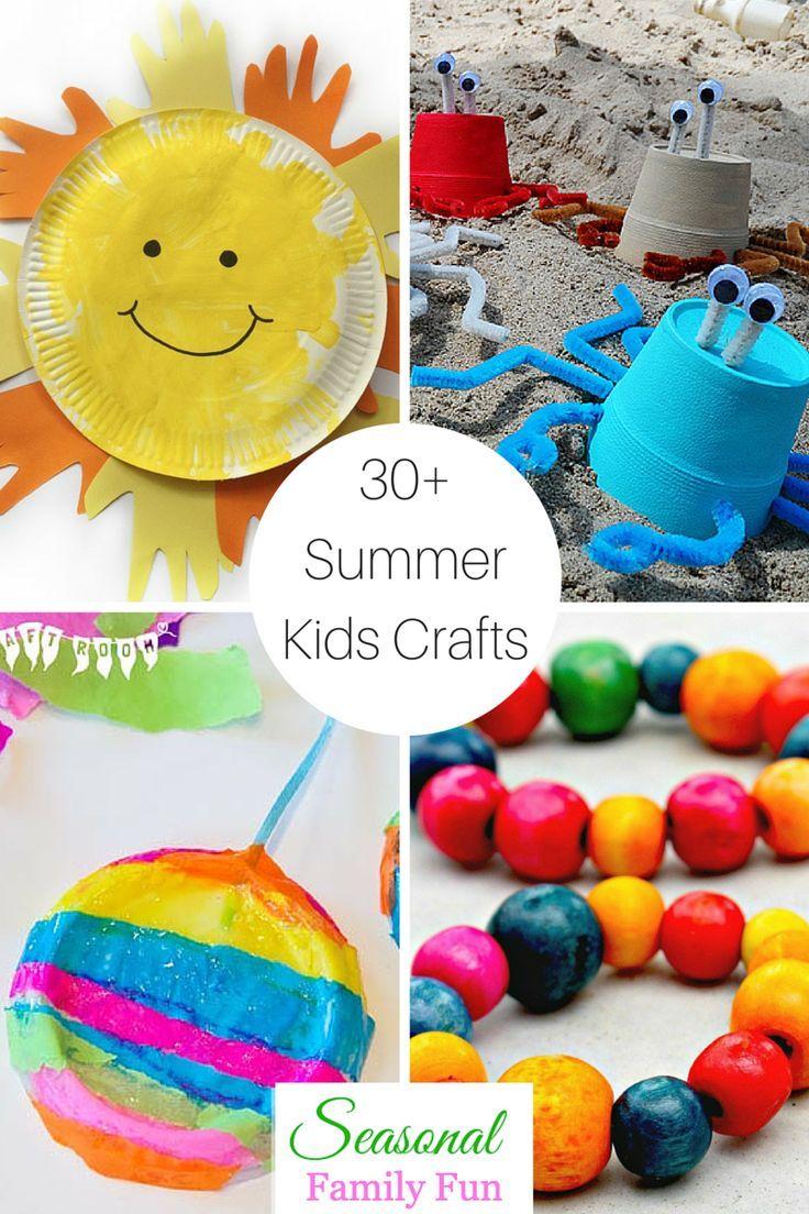 30+ Summer Kids Crafts Summer crafts for kids, Crafts