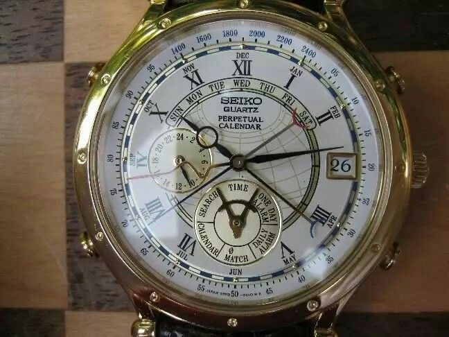 Seiko Age Of Discovery Perpetual Calendar 6m13 Vintage Watches