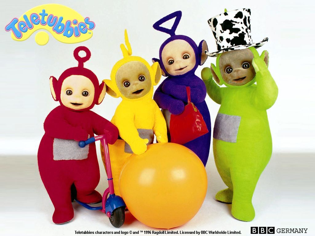 <3 Teletubbies <3 There's this home video I have where I'm coloring a Teletubbies themed coloring book lol. I still have my Teletubbies plush toys! :')<3
