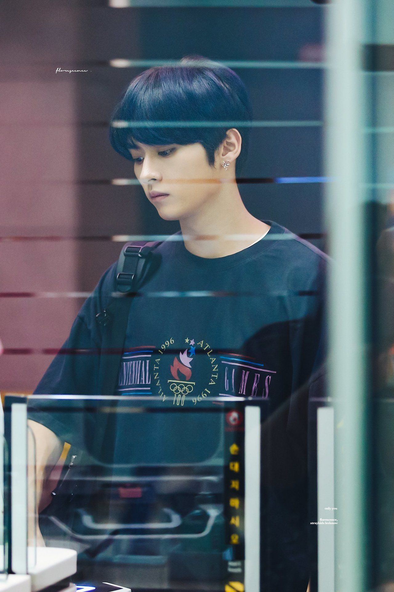 Stray kids Lee Know (Minho) © florescence [1, 2] | please do NOT edit or remove logo!