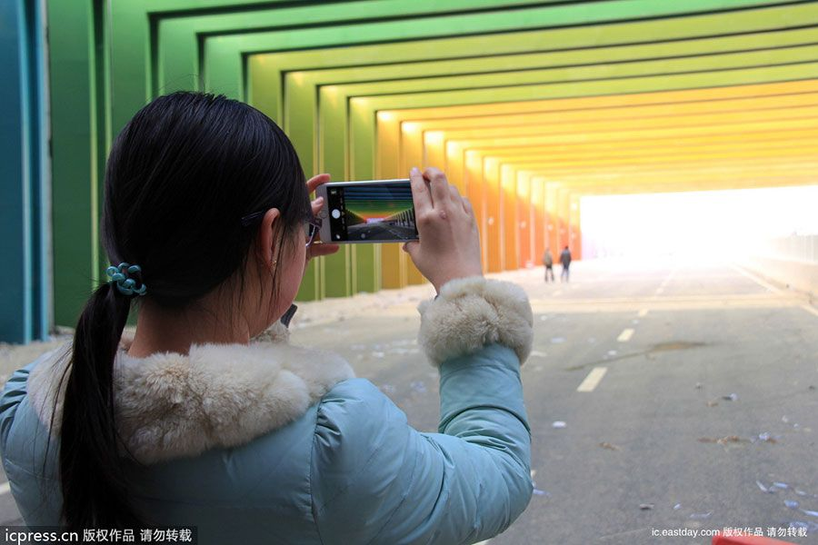 Rainbow Highway Tunnel Is A Sight For Drivers' Sore Eyes