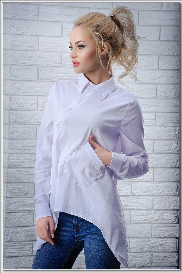 4699e5b1597c1bf Стильная рубашка оригинального кроя: продажа, цена в Одессе. блузки и  туники женские от