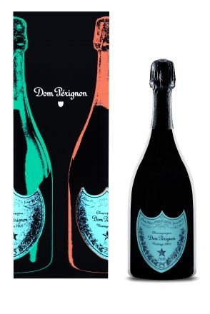 Dom Perignon 2002 Vintage Champagne Andy Warhol Blue Gift Boxed 75cl