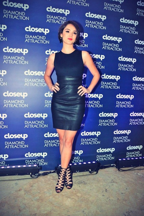 Bruna Marquezine and Isabelle Drummond attends the launch of a dental whitening