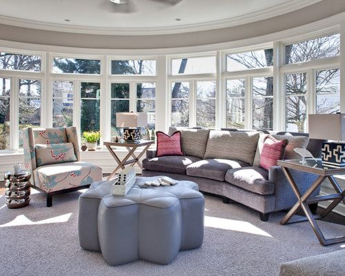Gentil Pelham Renovation   Contemporary   Living Room   New York   By Karen  Houghton Interiors Like The Windows Curved And W/ Transoms.